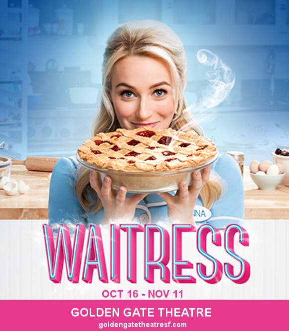 waitress golden gate theatre san fransisco